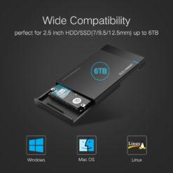 Адаптер для жесткого диска HDD 2.5″ SATA к USB 3.0, UGreen