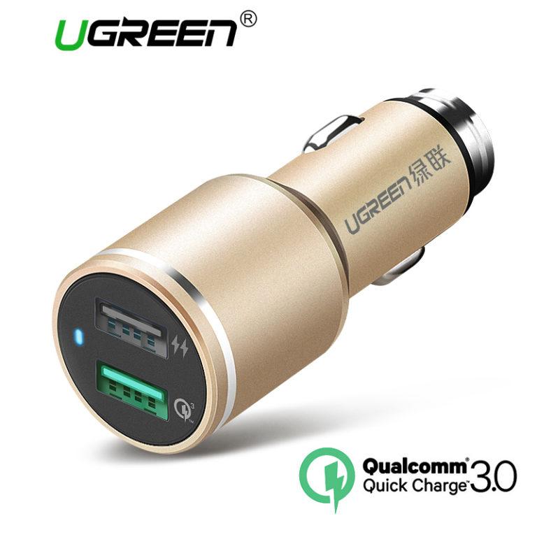Автомобильное зарядное устройство Ugreen, Quick Charge 3.0