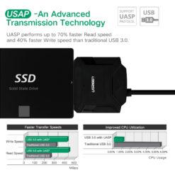 Адаптер-переходник SATA к USB, HDD 2.5, 3.5 к USB 2.0, 3.0