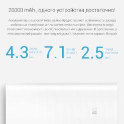 Внешний аккумулятор Xiaomi 20000 мАч, QC3.0