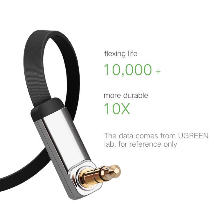 Плоский Aux-кабель Ugreen, 3.5мм