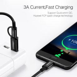 Кабель зарядки и передачи данных USB – Type-C-Type-C, Ugreen