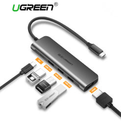 Концентратор USB Type-C – 3*USB/HDMA(VGA), Ugreen