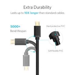 Кабель для зарядки и передачи данных microUSB 2.0, Ugreen