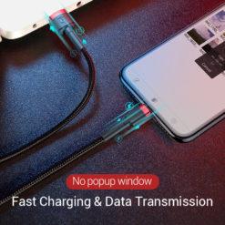 Нейлоновый кабель Lighting для зарядки и синхронизации, Baseus