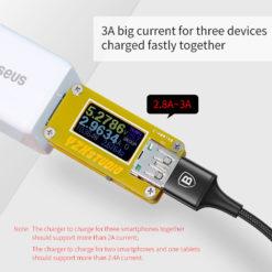 Кабель для зарядки и синхронизации 3 в 1 (Lighting/microUSB/Type-C), Baseus