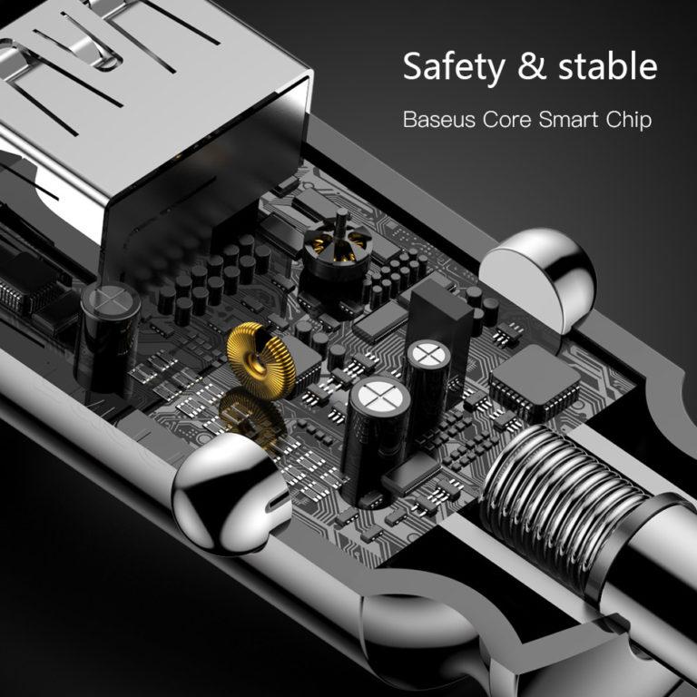 Автомобильное зарядное устройство для смартфона, Baseus