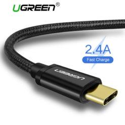 Нейлоновый кабель зарядки и синхронизации USB – Type-C, Ugreen