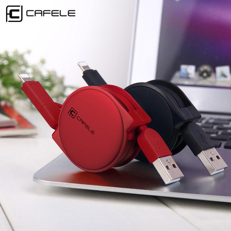 Телескопический кабель зарядки для Iphone/Android, Cafele
