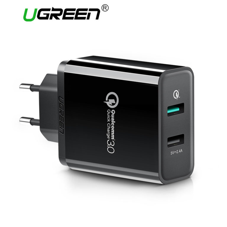 Зарядное устройство с быстрой зарядкой QC3.0, Ugreen