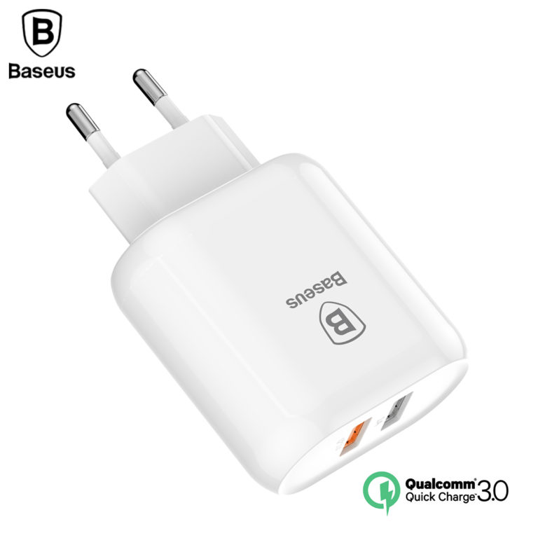 Зарядное устройство с быстрой зарядкой QC 3.0, Baseus