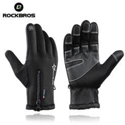 Велосипедные перчатки с закрытыми пальцами (touch screen), ROCKBROS