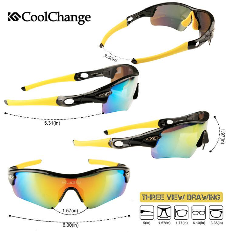 Велосипедные поляризованные солнцезащитные очки (комплект), Coolchange