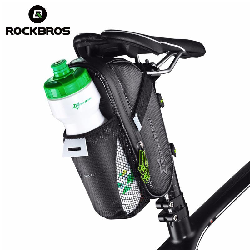 Велосипедная сумка под седло с карманом под бутылку, ROCKBROS