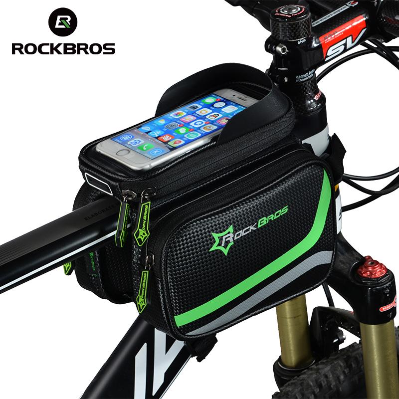 Велосипедная сумка на раму с чехлом под смартфон, ROCKBROS